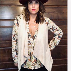 SW3 Bespoke Polyester Vest for Women in Tan Color